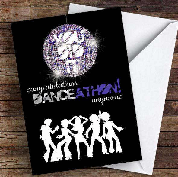 Danceathon Congratulations Personalised Greetings Card