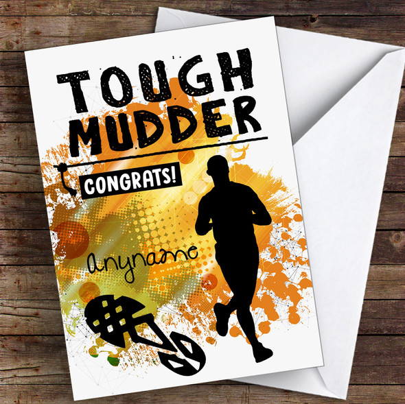 Tough Mudder Male Congrats Personalised Greetings Card
