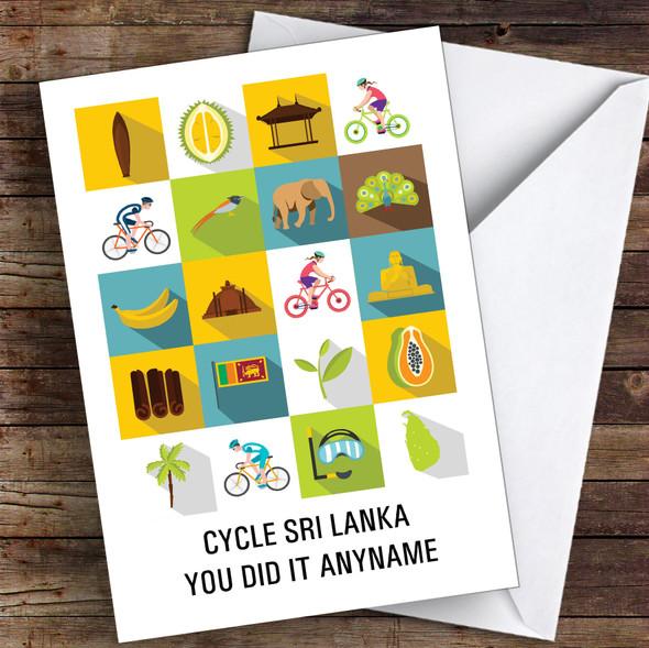 Bike Sri Lanka You Did It Personalised Greetings Card