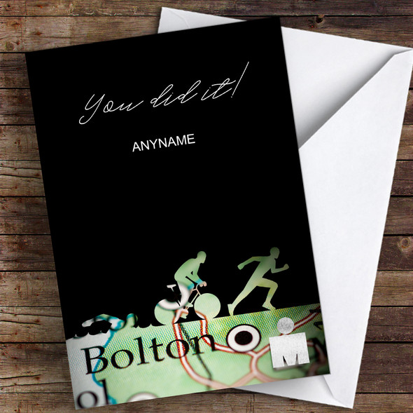 Ironman Bolton You Did It Personalised Greetings Card