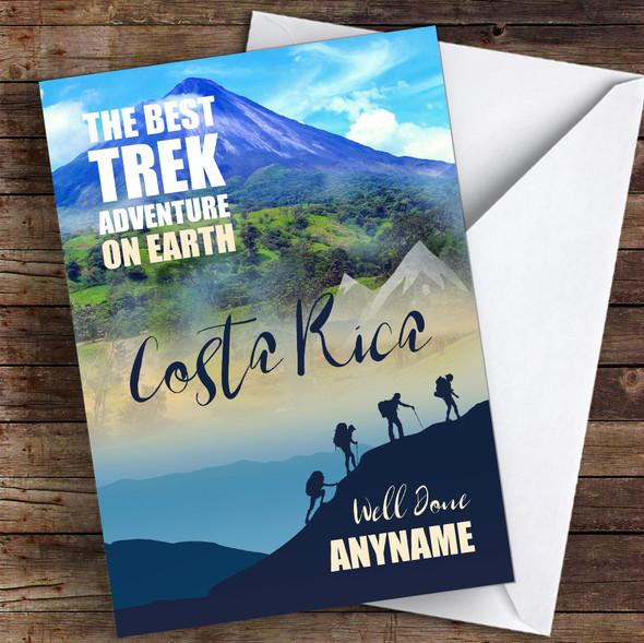 Trek Costa Rica Well Done Personalised Greetings Card