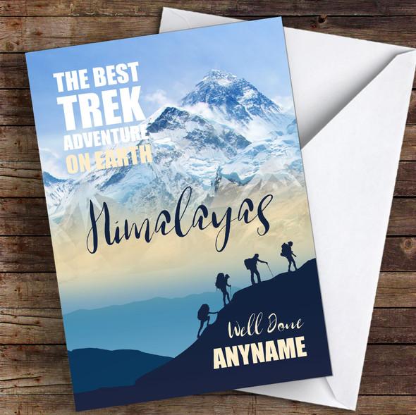 Trek Himalayas Well Done Personalised Greetings Card
