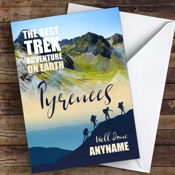 Trek Pyrenees Well Done Personalised Greetings Card