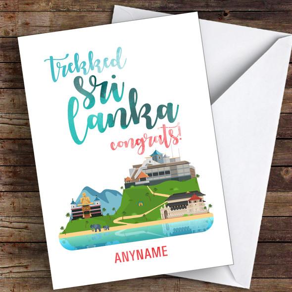 Trek Sri Lanka Congrats Personalised Greetings Card