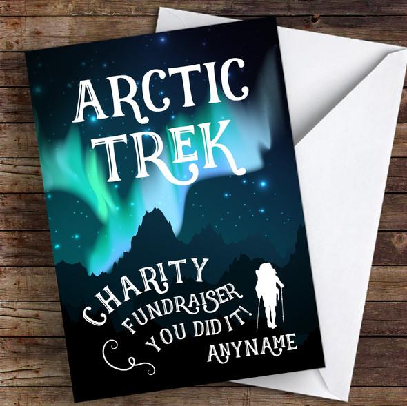 Arctic Trek You Did It Personalised Greetings Card