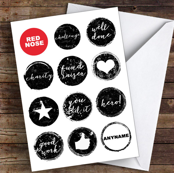 Red Nose Day Well Done Personalised Greetings Card