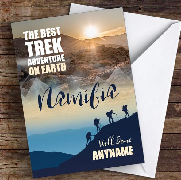 Trek Namibia Well Done Personalised Greetings Card