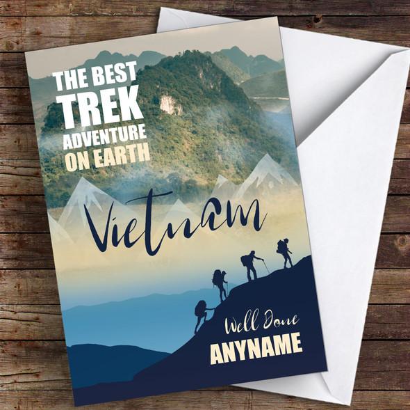 Trek Vietnam Well Done Personalised Greetings Card