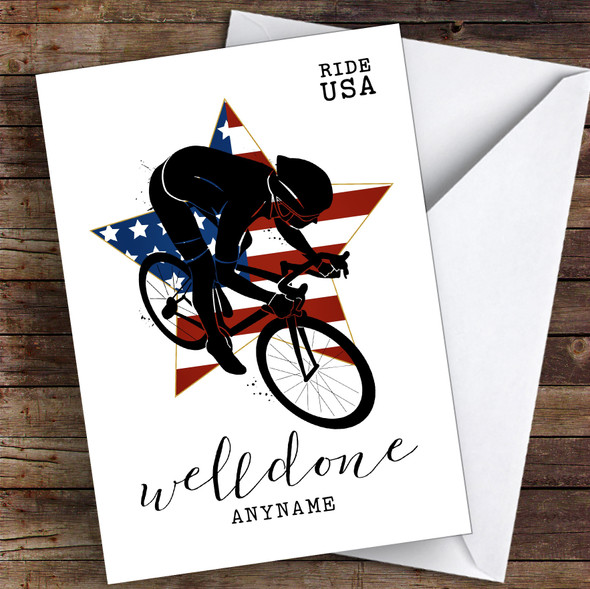 Ride USA Well Done Personalised Greetings Card