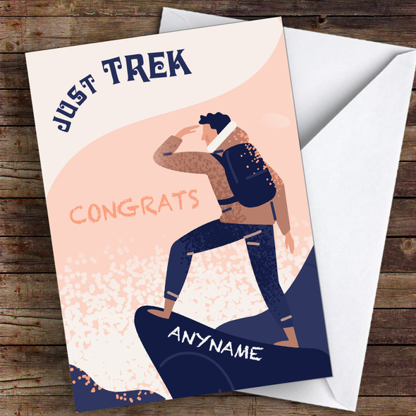 Trekking Congrats Personalised Greetings Card