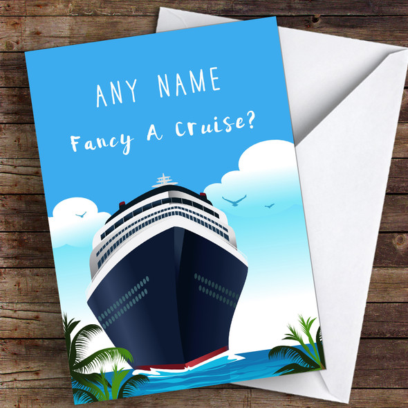 Surprise Going On A Cruise Personalised Greetings Card