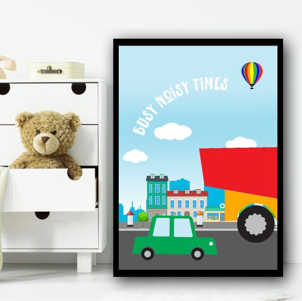 Transport Set 1 Children's Nursery Bedroom Wall Art Print