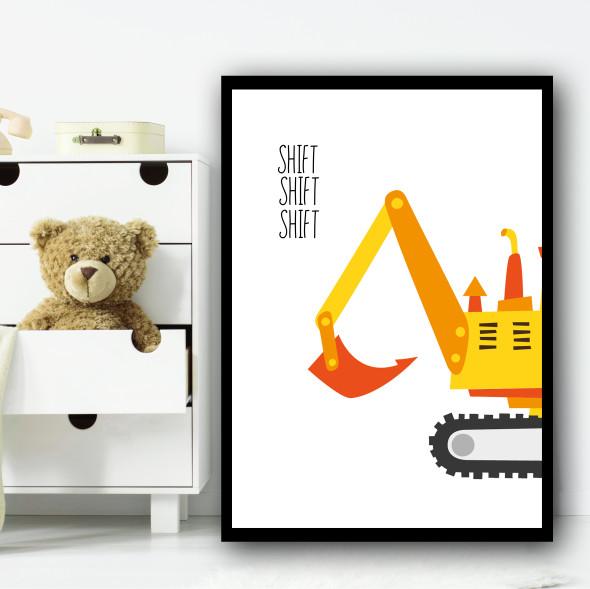 Construction Set 1A Children's Nursery Bedroom Wall Art Print