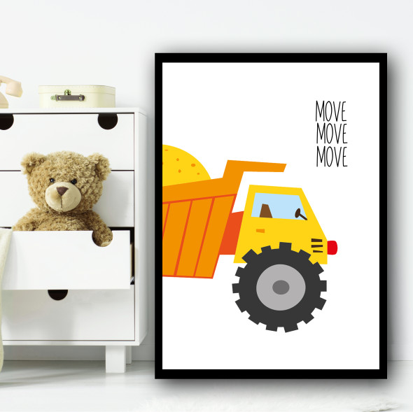 Construction Set 1B Children's Nursery Bedroom Wall Art Print