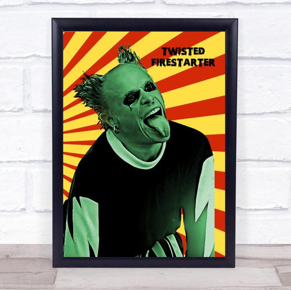 Keith Flint Prodigy Twisted Firestarter Funky Framed Wall Art Print