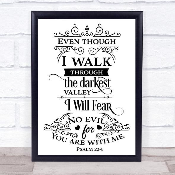 Christian No Fear Quote Typography Wall Art Print