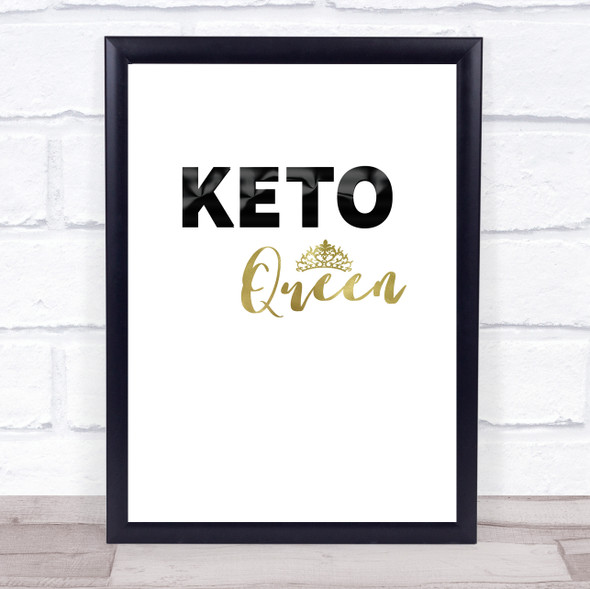 Keto Queen Quote Typography Wall Art Print