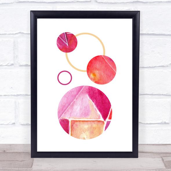 Abstract Pink Circles 2 Framed Wall Art Print
