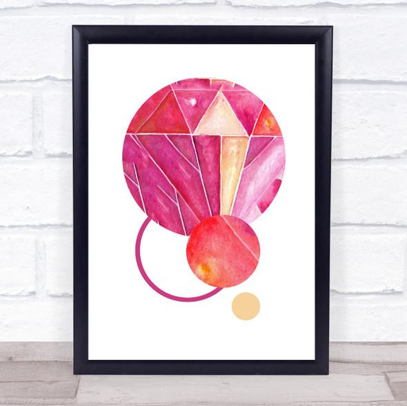 Abstract Pink Circles Framed Wall Art Print