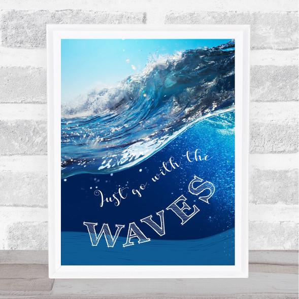 Waves And Sea Framed Wall Art Print