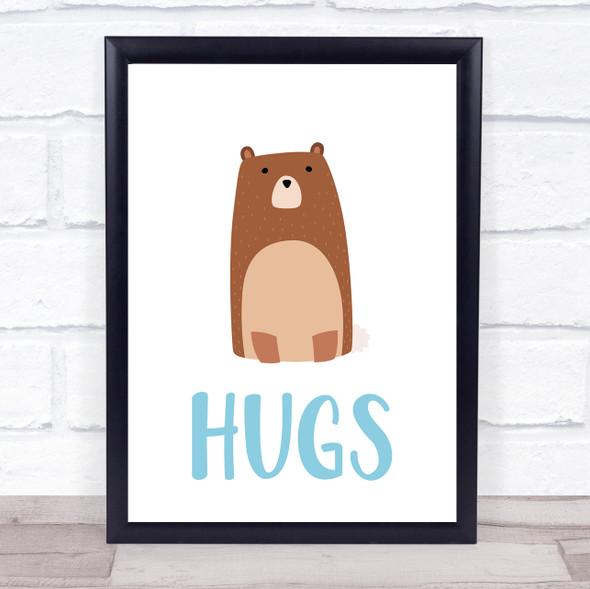 Bear Hugs Decorative Wall Art Print