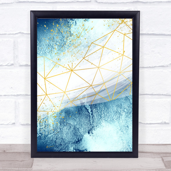 Ocean Sea Geometric 1 Of 3 Set Decorative Wall Art Print