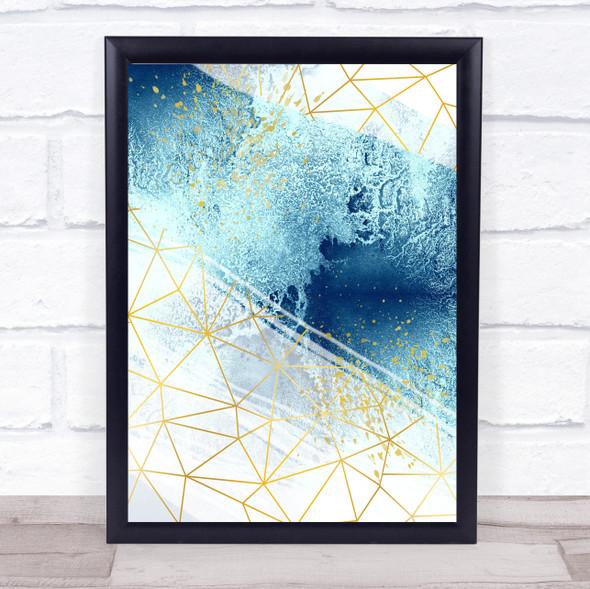 Ocean Sea Geometric 2 Of 3 Set Decorative Wall Art Print