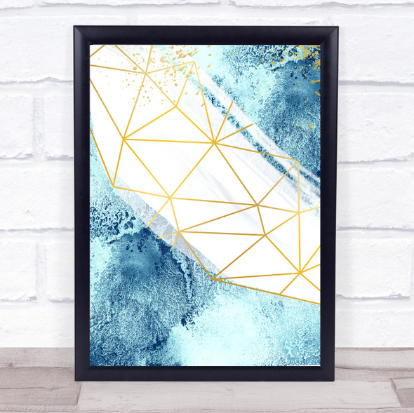 Ocean Sea Geometric 3 Of 3 Set Decorative Wall Art Print