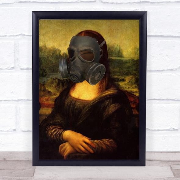 Mona Gas Mask Decorative Wall Art Print