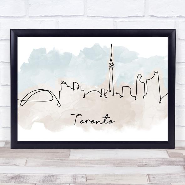 Watercolour Line Art Toronto Decorative Wall Art Print