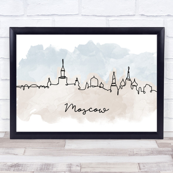 Watercolour Line Art Moscow Decorative Wall Art Print