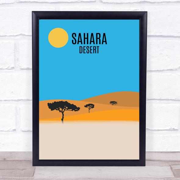 Sahara Desert Decorative Wall Art Print