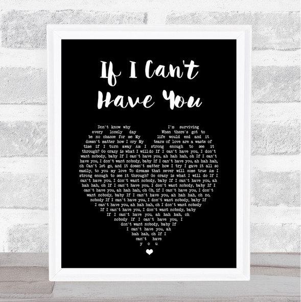 Yvonne Elliman If I Can't Have You Black Heart Song Lyric Print
