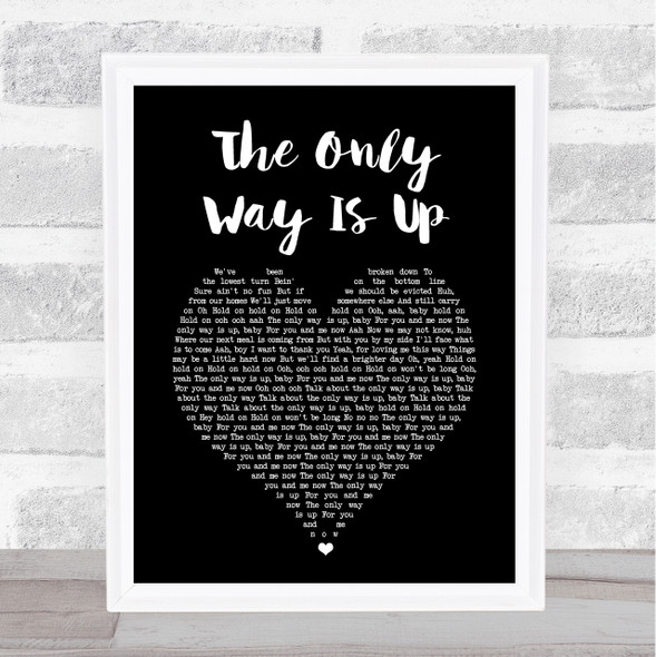 Yazz The Only Way Is Up Black Heart Song Lyric Print
