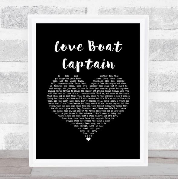 Pearl Jam Love Boat Captain Black Heart Song Lyric Print