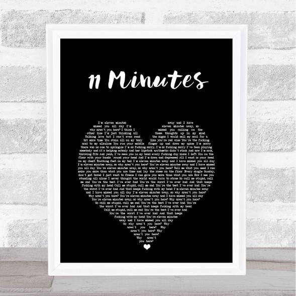 Yungblud & Halsey 11 Minutes Black Heart Song Lyric Print