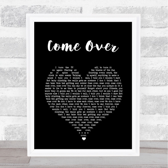 Kenny Chesney Come Over Black Heart Song Lyric Print