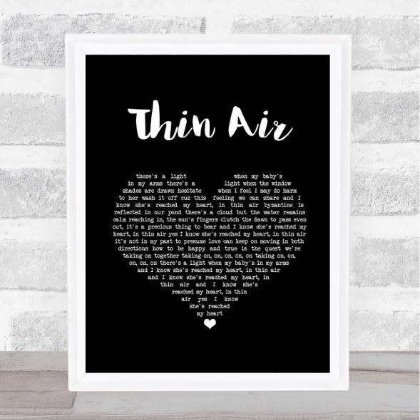 Pearl Jam Thin Air Black Heart Song Lyric Print