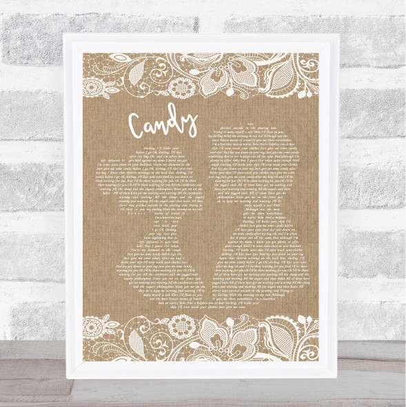 Paolo Nutini Candy Burlap & Lace Song Lyric Print