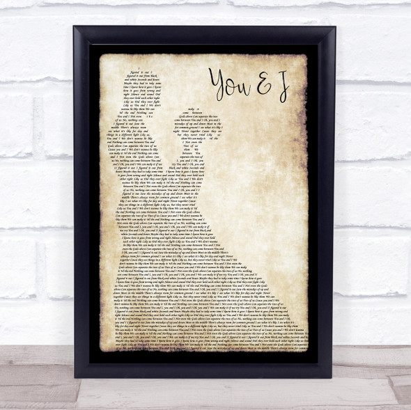 One Direction You & I Man Lady Dancing Song Lyric Print
