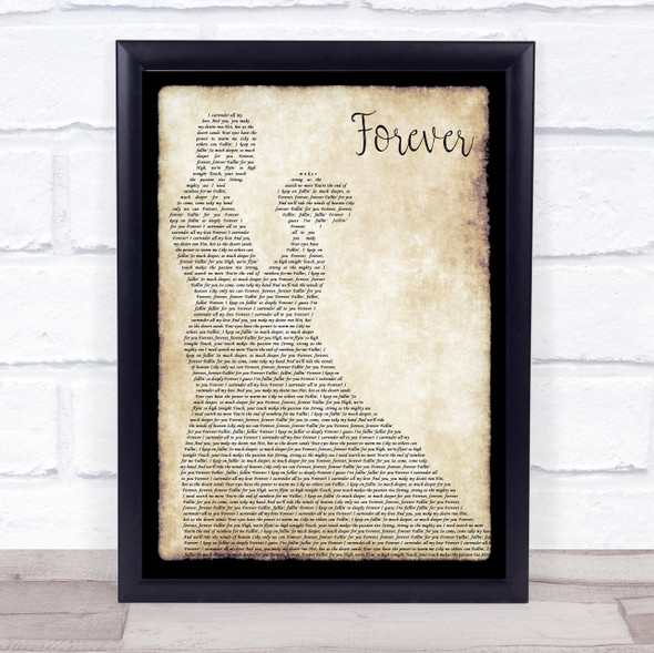 Y&T Forever Man Lady Dancing Song Lyric Print