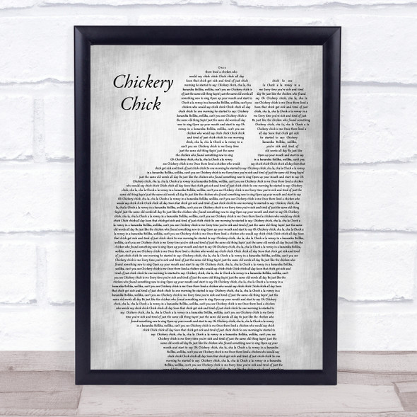 Frank Sinatra Chickery Chick Father & Baby Grey Song Lyric Print