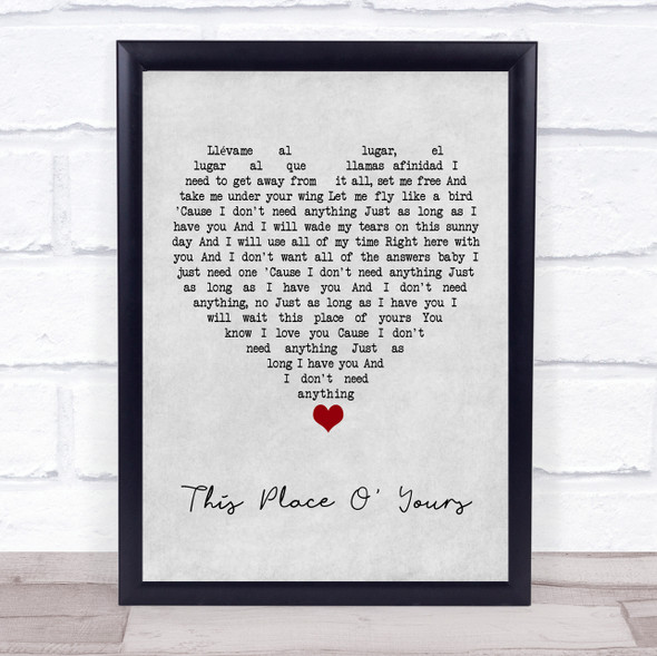 The Lathums This Place O' Yours Grey Heart Song Lyric Print