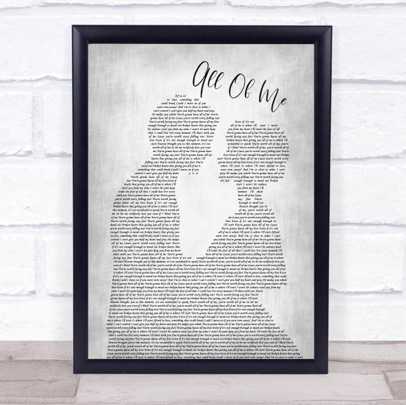 Matt Hammitt All Of Me Man Lady Bride Groom Wedding Grey Song Lyric Print