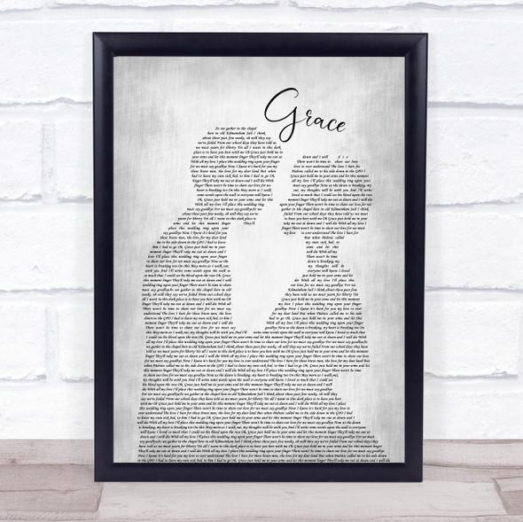 The Wolfe Tones Grace Man Lady Bride Groom Wedding Grey Song Lyric Print