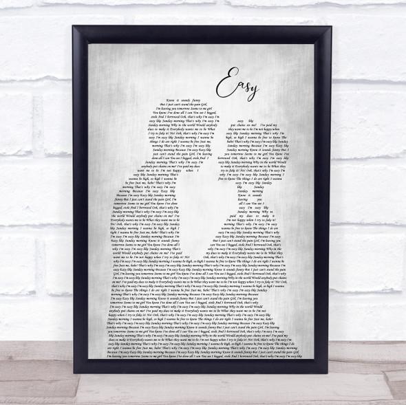 The Commodores Easy Man Lady Bride Groom Wedding Grey Song Lyric Print