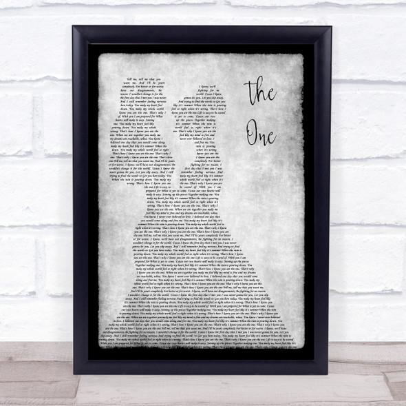 Kodaline The One Lesbian Couple Two Ladies Dancing Grey Song Lyric Print