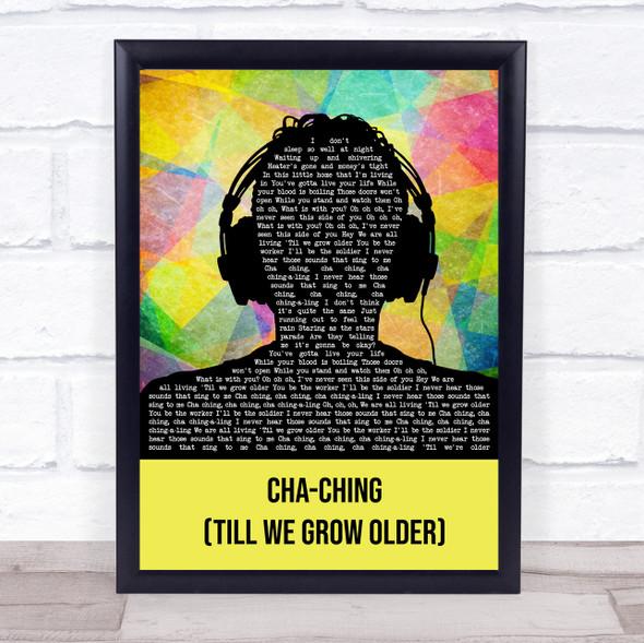 Imagine Dragons Cha-Ching (Till We Grow Older) Multicolour Man Headphones Song Lyric Print