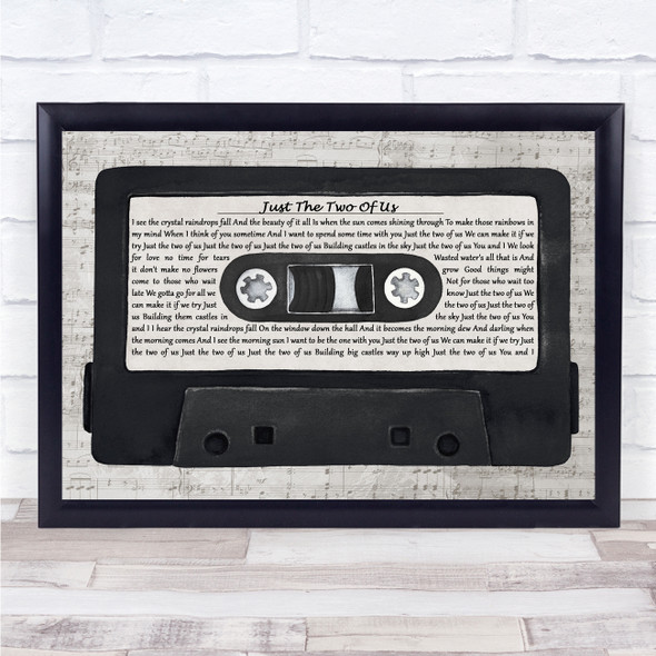 Bill Withers Just The Two Of Us Music Script Cassette Tape Song Lyric Print