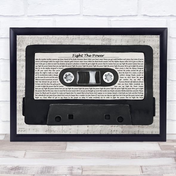 Public Enemy Fight The Power Music Script Cassette Tape Song Lyric Print
